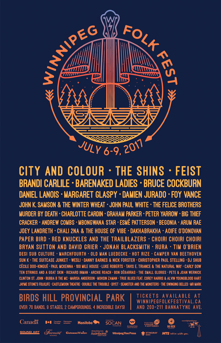 winnipeg folk fest reveals 2017 lineup with city and colour feist