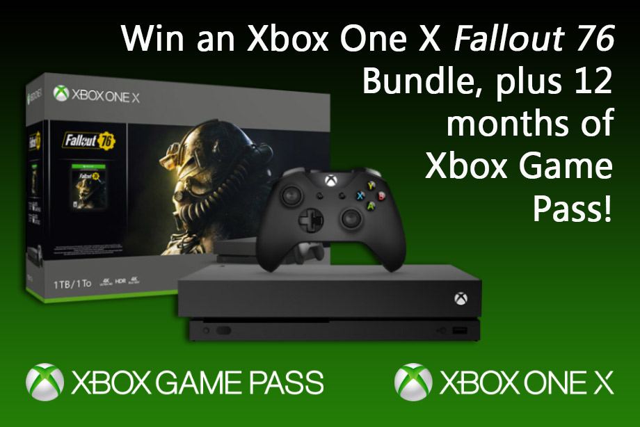 Win an Xbox One X 'Fallout 76' Bundle and 12 Months of Xbox Game Pass!