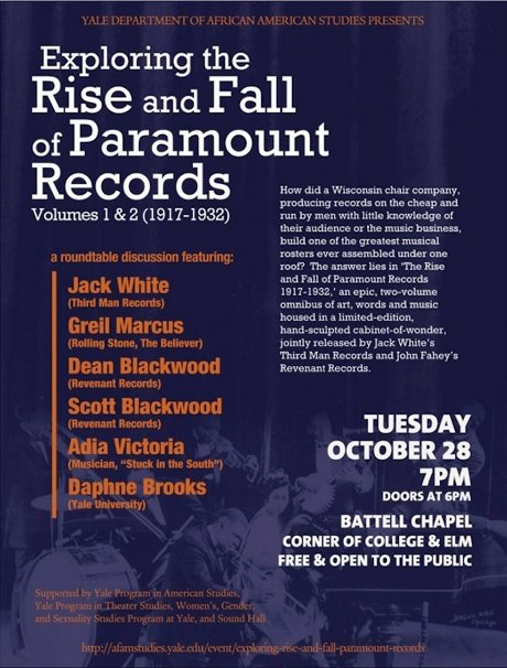 Jack White to Discuss 'The Rise and Fall of Paramount Records' at Yale